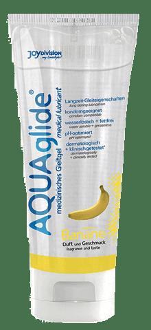 Лубрикант смазка AQUAglide с вкусом банана, 100мл