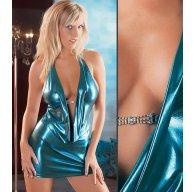 Купить клубное платье голубой металик