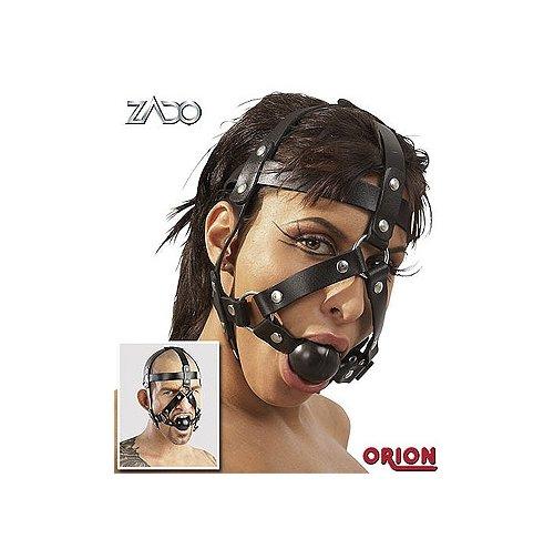 Кляп и сбруя на голову ZADO