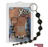 Анальные шарики X-10 Beads черные