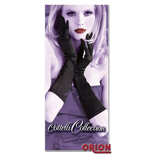Женские короткие перчатки черного цвета