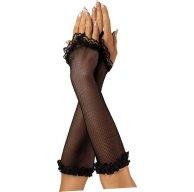 Женские перчатки (черная сетка)