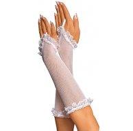 Сексуальные перчатки - Женские перчатки в белую сеточку