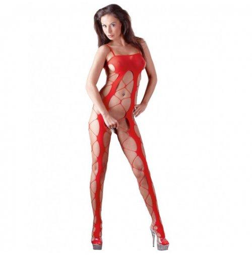 Сексуальный красный комбинезон