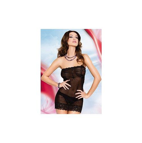 Платье Deni (черное) прозрачное