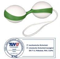 Вагинальные шарики Кегеля Аmor Gym Balls зеленого цвета