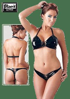 Сексуальное лаковое женское белье - Black Level