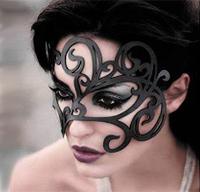 Ажурная кожаная маска