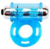 силиконовое вибро кольцо купить Vibrating Bull Ring-Blue