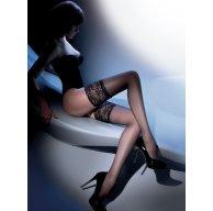 Черные Чулки с силиконом - Calze Exclusive 15 den