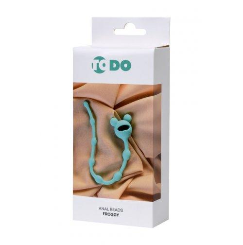Купить Анальную цепочку Anal Beads Froggy, силиконовую, 27,4 см
