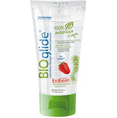 Купить гель-лубрикант - BIOglide Erdbeer (клубника), 80 мл