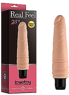 Реалистичный вибратор - Real Feel Cyberskin Vibrator Flesh 7,5""