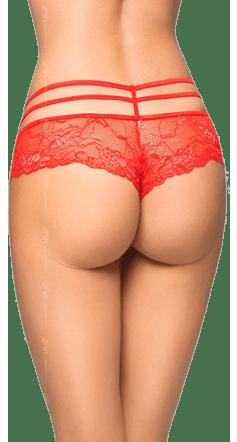 Женские стринги-шортики Tongs S/M красные
