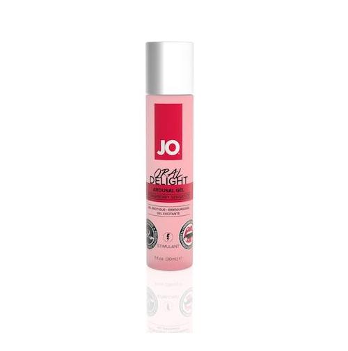 Купить возбуждающий гель System JO Oral Delight Strawberry Sensation, 30 мл вкус клубники
