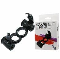 Купить кольцо для члена Sweet Ring Double Penis Ring Black
