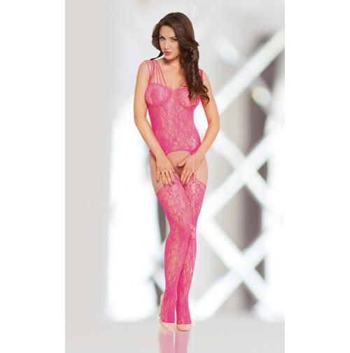 Купить сексуальный комбинезон в розовую сеточку