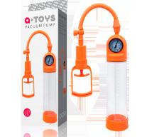 Помпа для пениса Toyfa A-Toys оранжевая, 20 см