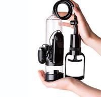 Помпа для увеличения пениса A-Toys с вибрацией, 22,8 см